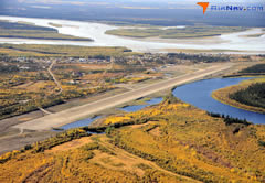 Aerial photo of PFYU (Fort Yukon Airport)