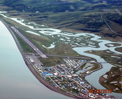 Aerial photo of PAUN (Unalakleet Airport)