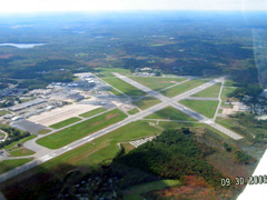 Aerial photo of KBED (Laurence G Hanscom Field Airport)