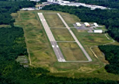 Aerial photo of KAXQ (Clarion County Airport)