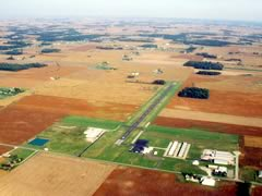 Aerial photo of KUSE (Fulton County Airport)