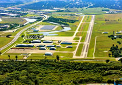 Aerial photo of KSGR (Sugar Land Regional Airport)