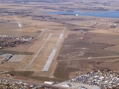 Aerial photo of KOLU (Columbus Municipal Airport)