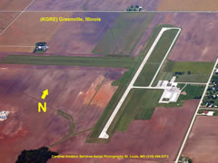 Aerial photo of KGRE (Greenville Airport)