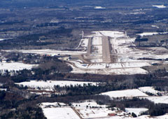 Aerial photo of KIMT (Ford Airport)