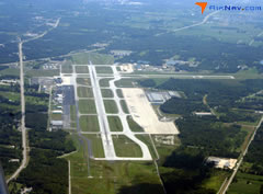 Aerial photo of KTOL (Toledo Express Airport)