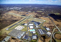Aerial photo of KMMU (Morristown Municipal Airport)
