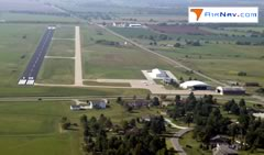 Aerial photo of KCNU (Chanute Martin Johnson Airport)