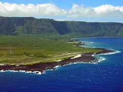 Aerial photo of PHLU (Kalaupapa Airport)