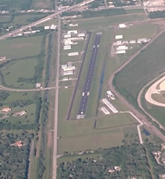 Aerial photo of KAXH (Houston Southwest Airport)