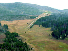 Aerial photo of U81 (Cold Meadows USFS Airport)