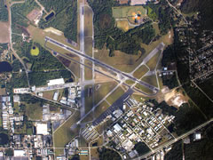 Aerial photo of KDED (DeLand Municipal Airport-Sidney H Taylor Field)