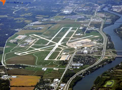Aerial photo of KMLI (Quad City International Airport)