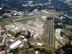 Aerial photo of KGYH (Donaldson Center Airport)
