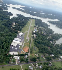 Aerial photo of 14A (Lake Norman Airpark)