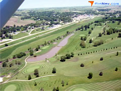 Aerial photo of Y43 (Anita Municipal Airport-Kevin Burke Memorial Field)