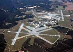 Aerial photo of KNSE (Whiting Field Naval Air Station North)