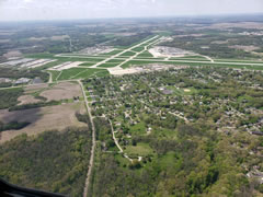 Aerial photo of KPIA (General Downing - Peoria International Airport)
