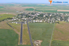 Aerial photo of 68S (Davenport Airport)
