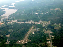 Aerial photo of KLRG (Lincoln Regional Airport)