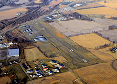 Aerial photo of KLHQ (Fairfield County Airport)