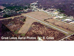 Aerial photo of 80D (Clare County Airport)