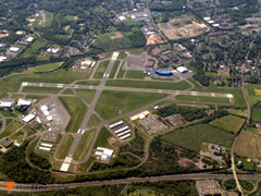 Aerial photo of KTTN (Trenton Mercer Airport)