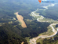 Aerial photo of 8U2 (Schafer USFS Airport)