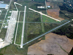 Aerial photo of KCFV (Coffeyville Municipal Airport)