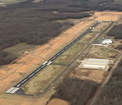 Aerial photo of KFYE (Fayette County Airport)