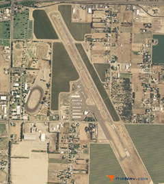 Aerial photo of KHJO (Hanford Municipal Airport)