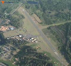 Aerial photo of KLNL (Kings Land O' Lakes Airport)