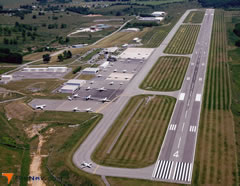 Aerial photo of KLWB (Greenbrier Valley Airport)