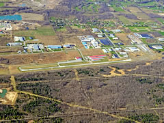 Aerial photo of KBQR (Buffalo-Lancaster Regional Airport)