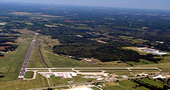 Aerial photo of KMWA (Veterans Airport of Southern Illinois)