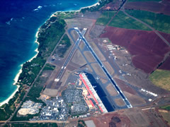 Aerial photo of PHOG (Kahului Airport)