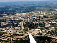 Aerial photo of KMSN (Dane County Regional Airport-Truax Field)