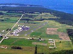 Aerial photo of KSUE (Door County Cherryland Airport)