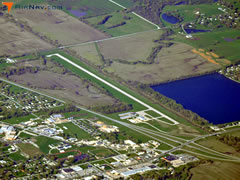 Aerial photo of KTRX (Trenton Municipal Airport)