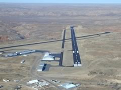 Aerial photo of KBGD (Hutchinson County Airport)
