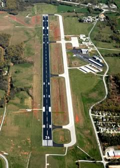 Aerial photo of KHRO (Boone County Airport)