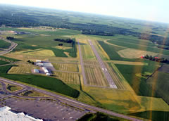 Aerial photo of KULM (New Ulm Municipal Airport)