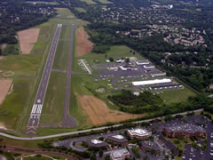 Aerial photo of KLOM (Wings Field Airport)
