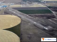 Aerial photo of KHEQ (Holyoke Airport)