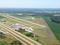 Aerial photo of KPCZ (Waupaca Municipal Airport)