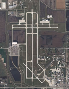 Aerial photo of KFAR (Hector International Airport)
