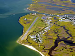 Aerial photo of KTGI (Tangier Island Airport)
