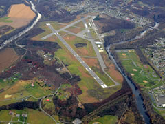 Aerial photo of KCBE (Greater Cumberland Regional Airport)