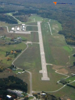 Aerial photo of KFKS (Frankfort Dow Memorial Field)