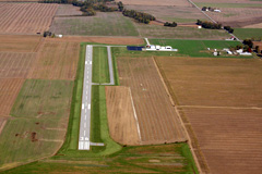 Aerial photo of KCUL (Carmi Municipal Airport)